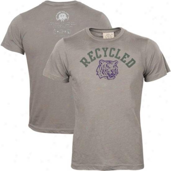 Lsu Tigers Tshirt : Lsu Tigers Ash 100% Recycled Logo Tshirt