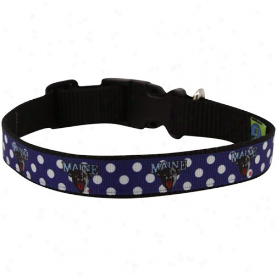 Maine Murky Bears Ships of war Ble Polka Dot Pet Collar