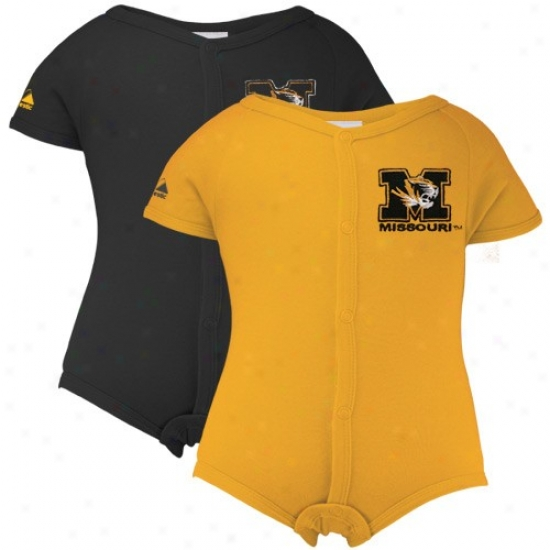 Majestic Missouri Tigers Infant Gold-black 2-pack Abundant Button Creeper Set