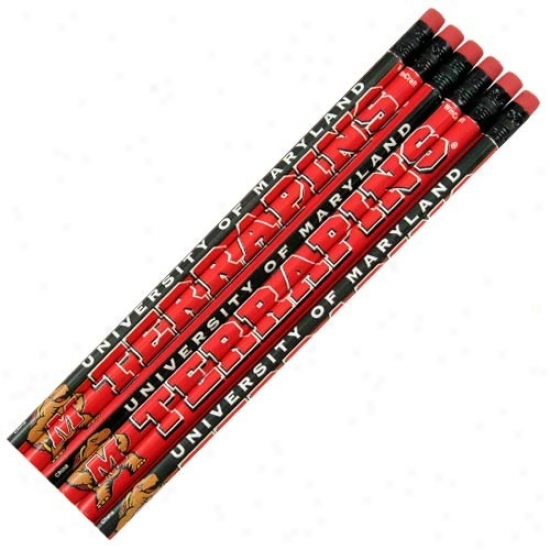 Maryland Terrapins 6-pack Team Logo Pencil Set