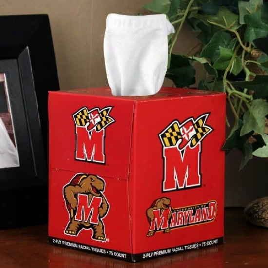 Maryland Terrapins Box Of Sports Tissues