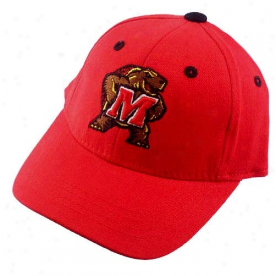 Maryland Terrapins Hat : Maryland Terrapins Red Infant 1fit Hat