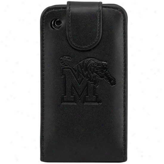 Memphis Tigers Black Leather Team Logo Iphone Wallet