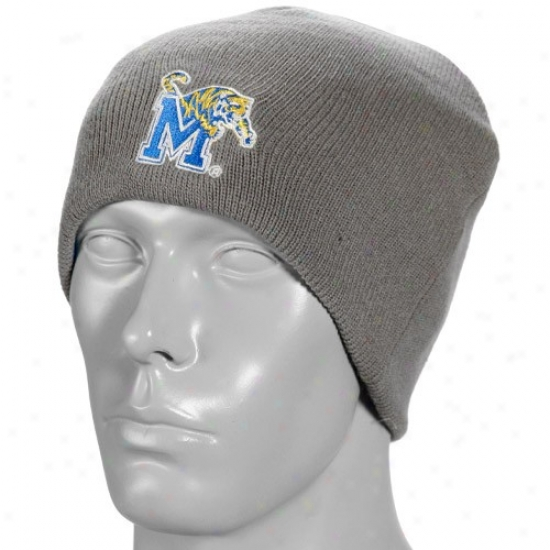 Memphis Tigers Hat : Memphis Tigers Gray-royal Blue Forge Reversible Knit Beanie