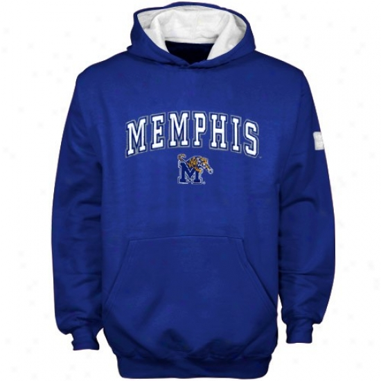 Memphis Tigers Hoody : Memphis Tigers Youth Royal Blue Automatic Hoody