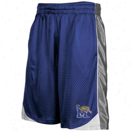 Memphis Tigers Royal Blue Vector Workout Shorts