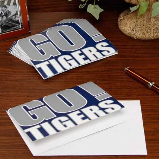 Memphis Tigers Slogan Nofe Cards