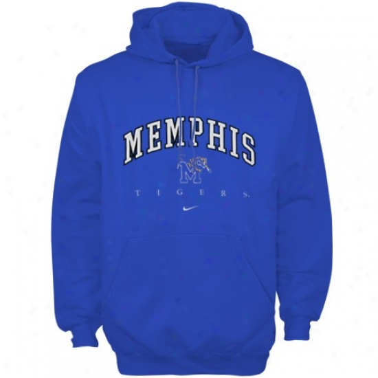 Memphis Tigers Sweat Shirt : Nike Memphis Tigers Royal Blue Tackle Twill Sweat Shirt