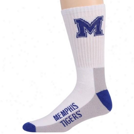 Memphis Tigers Tri-color Team Logo Crew Socks
