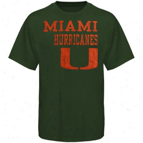 Miami Canes T-shirt : Miami Canes Green Stacked T-shirt