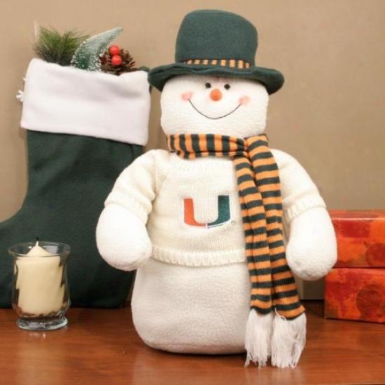 Miami Hurricanes 18'' Plush Snowman