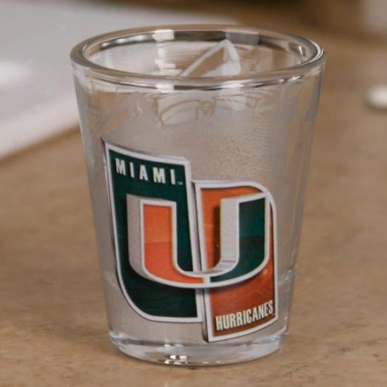 Miami Hurricanes 2 Oz. Enhanced High Definition Shot Glass