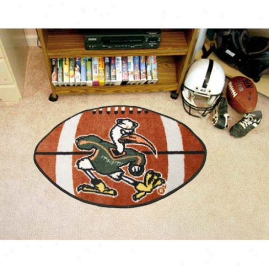 """miami Hurricanes 22""""x35"""" Football Mat"""