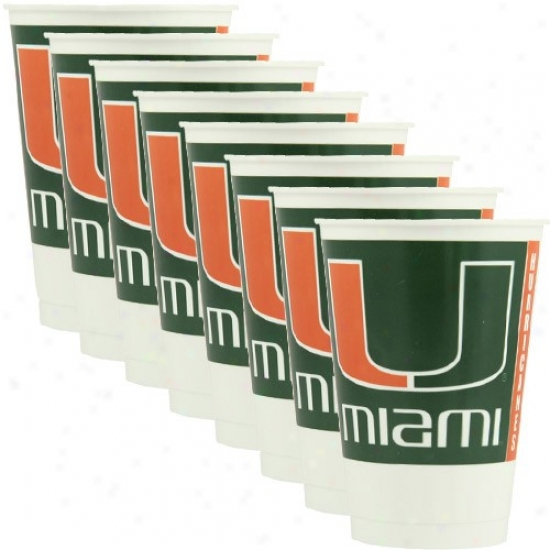 Miami Hurricanes 8-pack Palstic Cups
