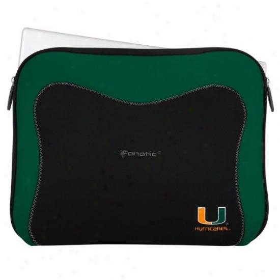 Miami Hurricanes Black-green Neoprene Laptop Sleeve