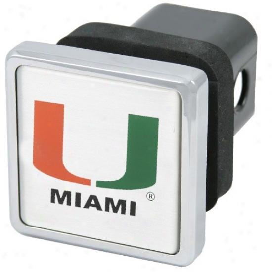 Miami Hurricanes Chrom eTrailer Hitch Cover