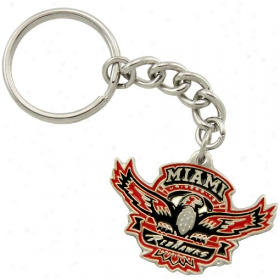 Miami University Redhawks Pewter Primary Logo Keychain