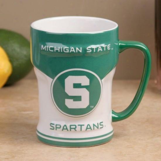 Michigan State Spartans 12oz. Varsity Scul0ted Mug