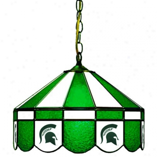 """michigaan State Spartans 16"""" Swag Lamp"""
