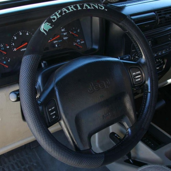 Michigan State Spartans Black Steering Wheel Clothe