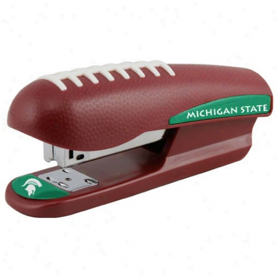 Michigan State Spartans Brown Pro-grip Football Stapler