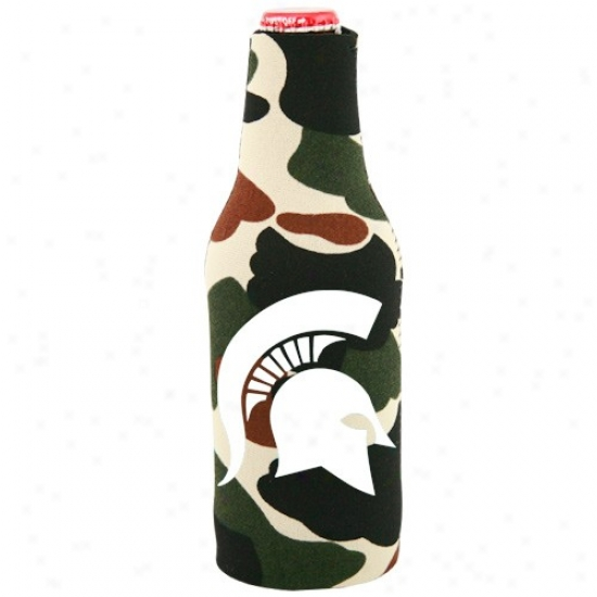 Michigan National Spartans Camo 12 Oz. Bottle Coolie