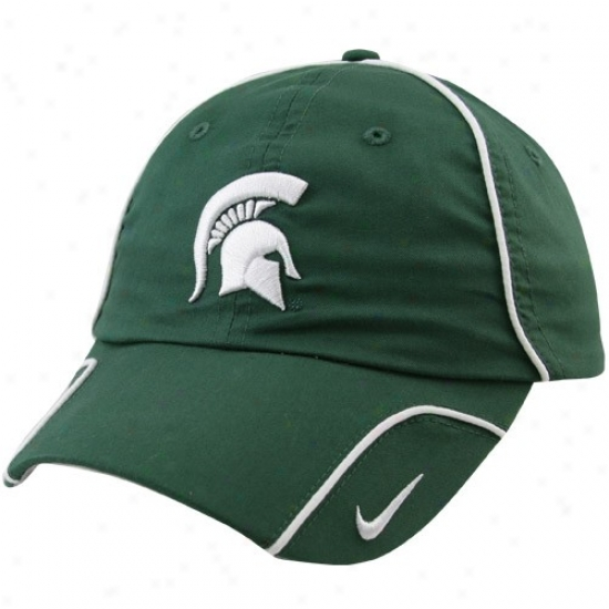 Michigan State Spartans Gear: Nike Michigan State Spartans Ladies Unripe 2010 Heritage 86 Sidelnie Hat