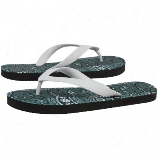 Michigna State Spartans Ladies Green Vintage Paisley Flip Flop