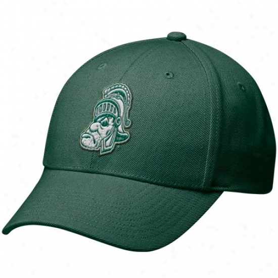 Michigan Express  Spartans Merchandise: Nike Michigan State Spartans Green Vault Legacy 91 Swoosh Flex Hat