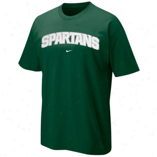 Michigan State Spartans T Shirt : Nike Michign State Spartans Green College Classic T Shirt