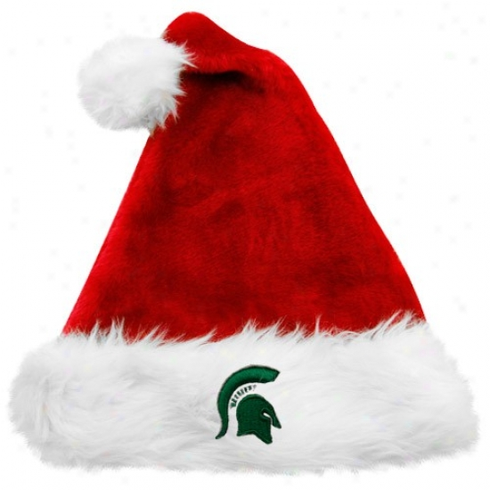 Michigan Staye Seminary of learning Gear: Top Of The World Michigan State Univerdity Red Santa Claus Hat