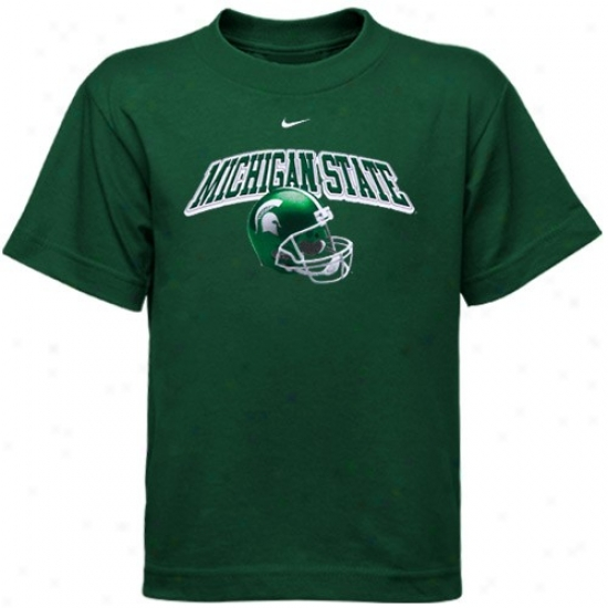 Michigan State University Tshirts : Nike Michigan National University Preschool Green Arch Helmet Tshirts