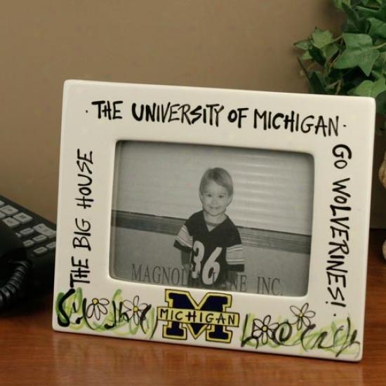 Michigan Wolverines Ceramic Picture Frams