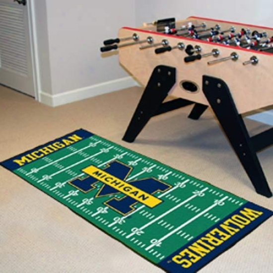Michigan Wolverines Football Fiels Messenger Mat