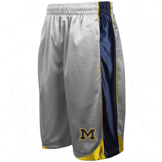 Michigan Wolverines Hoary Vector Workout Shorts