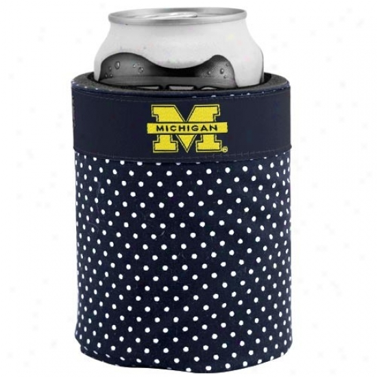 Michigan Wolverines Polka Dot Can Coolie
