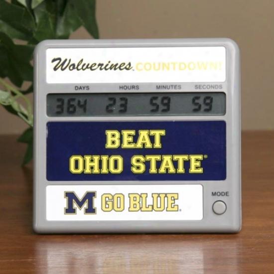 Michigan Wolverines Rivalry Countdown Clock
