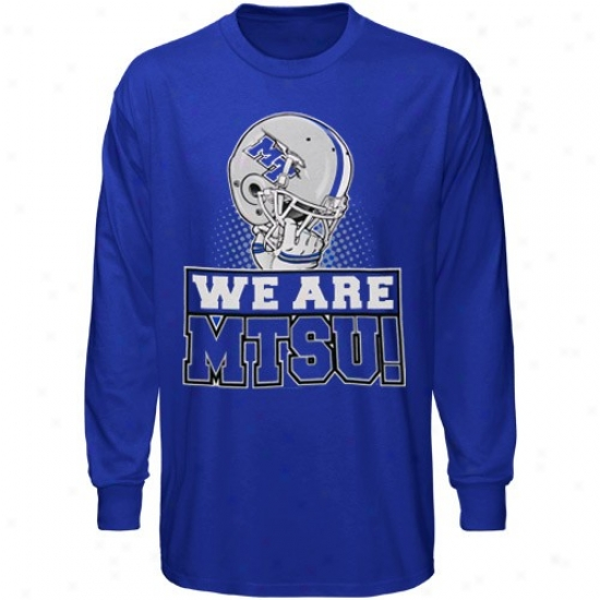 Mid. Tenn. St. Blue Raiders T-shirt : Middle Tennessee State Blue Raiders Youth Royal Blue We Are Long Sleeve T-shirt