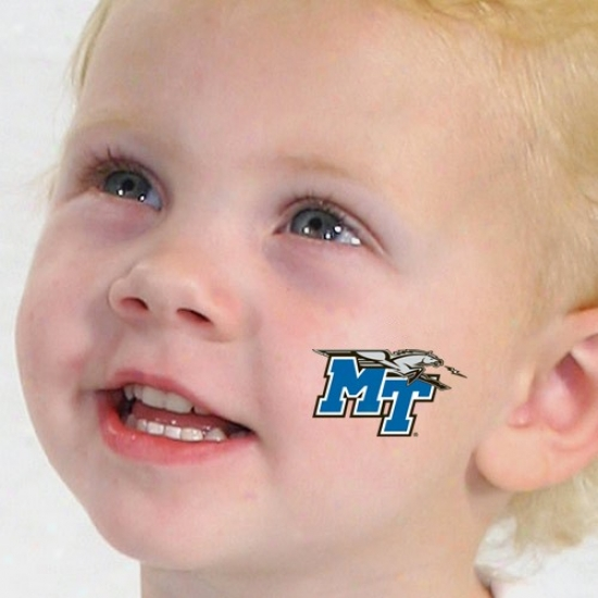 Middle Tennessee State Blue Raiders Temporary Tattoos