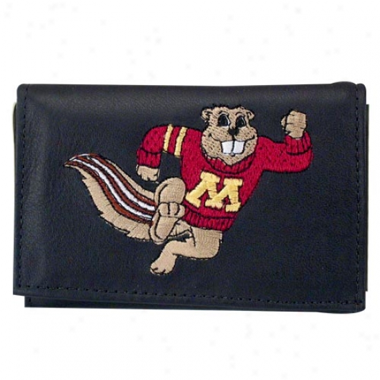 Minnesota Golden Gophers Bpack Leather Embroidered Trifold Wallet