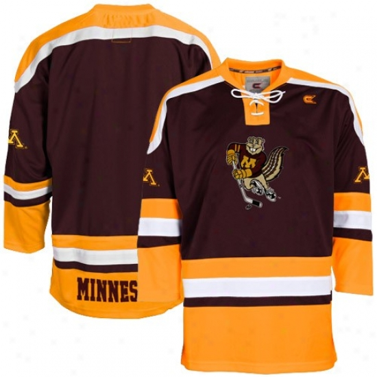 Minnesota Golden Gophers Jersey : Minnesota Golden Gophers Maroon Hockey Jersey