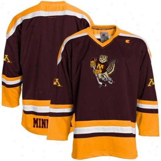 Minnesota Golden Gophers Jerseys : Minnesota Golden Gophers Youth Maroon Hockey Jerseys