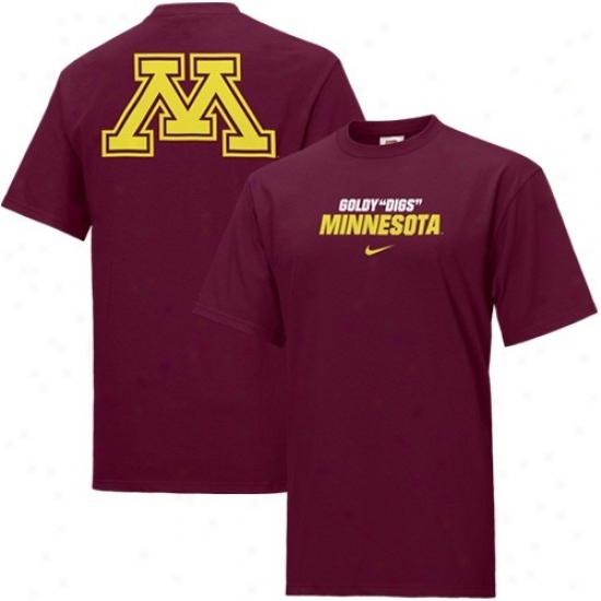 Minnesota Golden Gophers Tshirt : Nike Minnesota Golden Gophers Maroon Rush The Field Tshirt