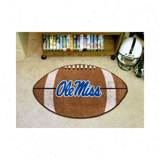 """mississippi Rebels 22""""x35"""" Ole Miss Logo Football Mat"""