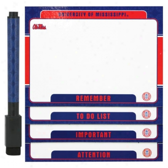 Mississippi Rebels 4-pack Magnetic Dry-erase Boards