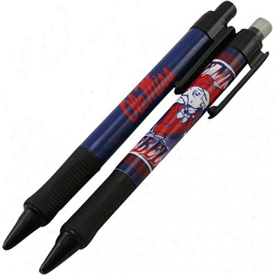 Mississippi Rebels Mechanical Pencil & Retractable Pen