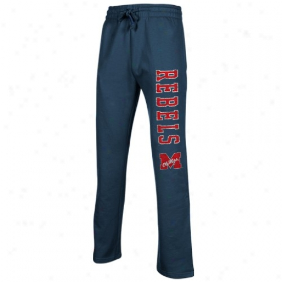 Missossippi Rebels Navy Blue Blitz Fleece Pants