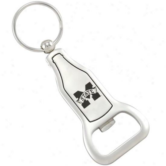 Mississippi State Bulldogs Brushed Metal Bottle Opener Keychain