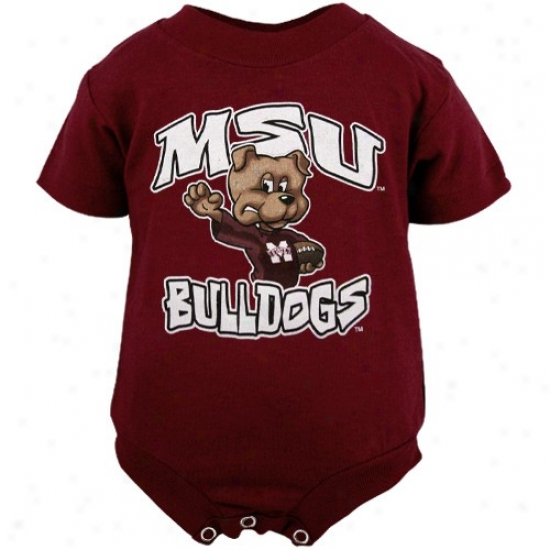 Mississippi National Bulldogs Infant Maroon Characterr Creeper