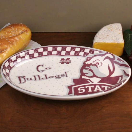 Mississippi State Bulldogs Oval Ceramic Platter